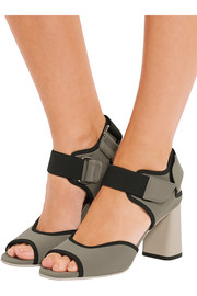 Elastic-trimmed neoprene sandals