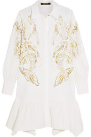 Roberto Cavalli Printed cotton-blend mini dress
