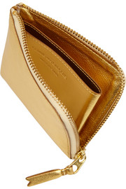 Comme des Garçons Metallic textured-leather wallet