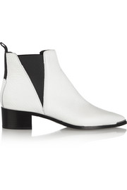 Jensen textured-leather ankle boots