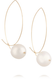 14-karat gold freshwater pearl earrings