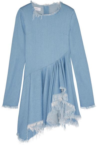 Marques' Almeida - Frayed Denim Dress - Light denim