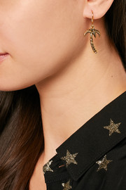 Saint Laurent Burnished gold-tone earrings