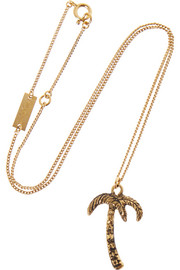 Saint Laurent Burnished gold-tone necklace