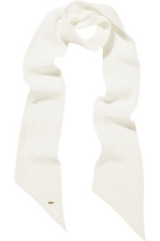 Saint Laurent Silk-georgette scarf