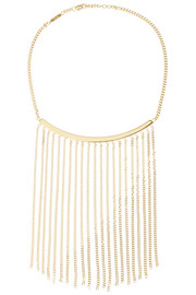 Delfine fringed gold-tone necklace