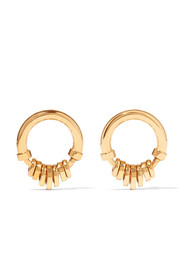 Freja gold-tone earrings