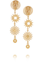 Isaure gold-tone clip earrings