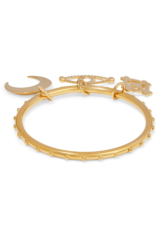 Chloé Izzy studded gold-tone charm bracelet