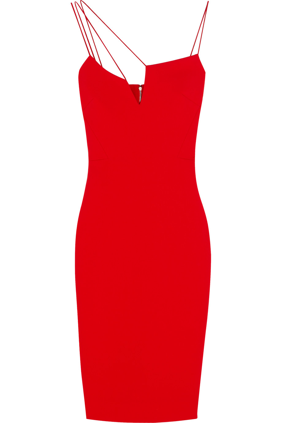 Victoria Beckham Crepe Dress, Red, Women's, Size: 6