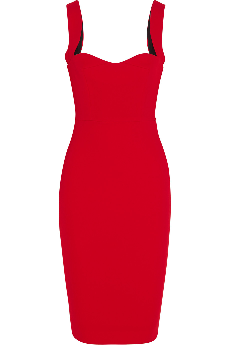 Victoria Beckham Crepe Dress, Red, Women's, Size: 8