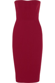 Victoria Beckham Strapless wool-crepe dress