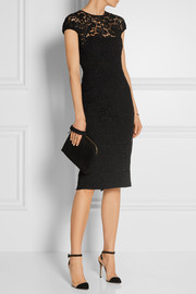 Victoria Beckham Cotton-blend lace dress