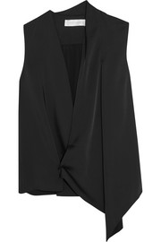 Victoria Beckham Draped matte-satin wrap top