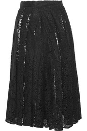 Corded lace midi skirt