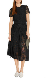 Victoria Beckham Corded lace midi skirt