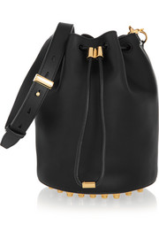 Alpha leather bucket bag