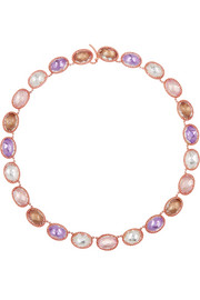 Lily Rivière rose gold-dipped topaz necklace