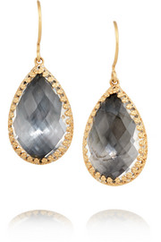 Sophia gold-dipped topaz earrings