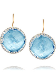 Larkspur & Hawk Olivia Button white rhodium-plated quartz earrings