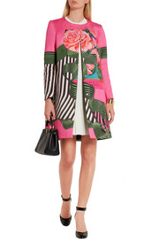 Dash floral-print cotton and silk-blend coat