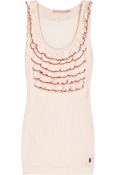 Juicy Couture Pointelle ruffled tank