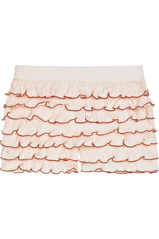 Juicy Couture Pointelle ruffled shorts