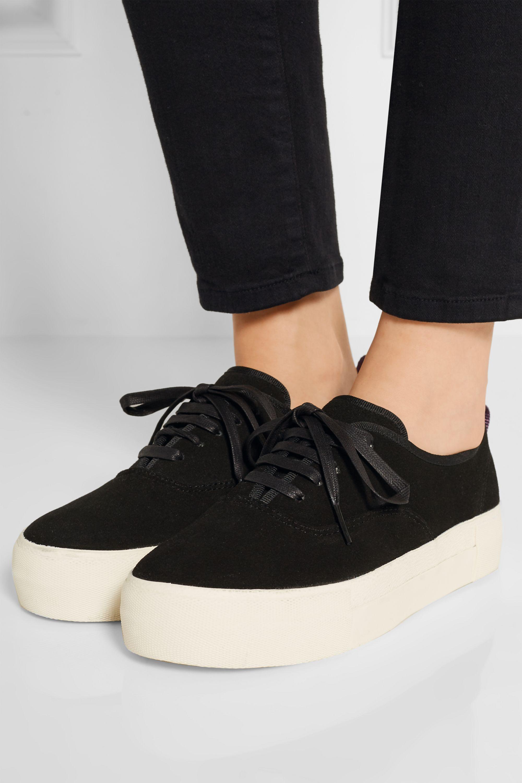 Black Mother suede sneakers   Eytys