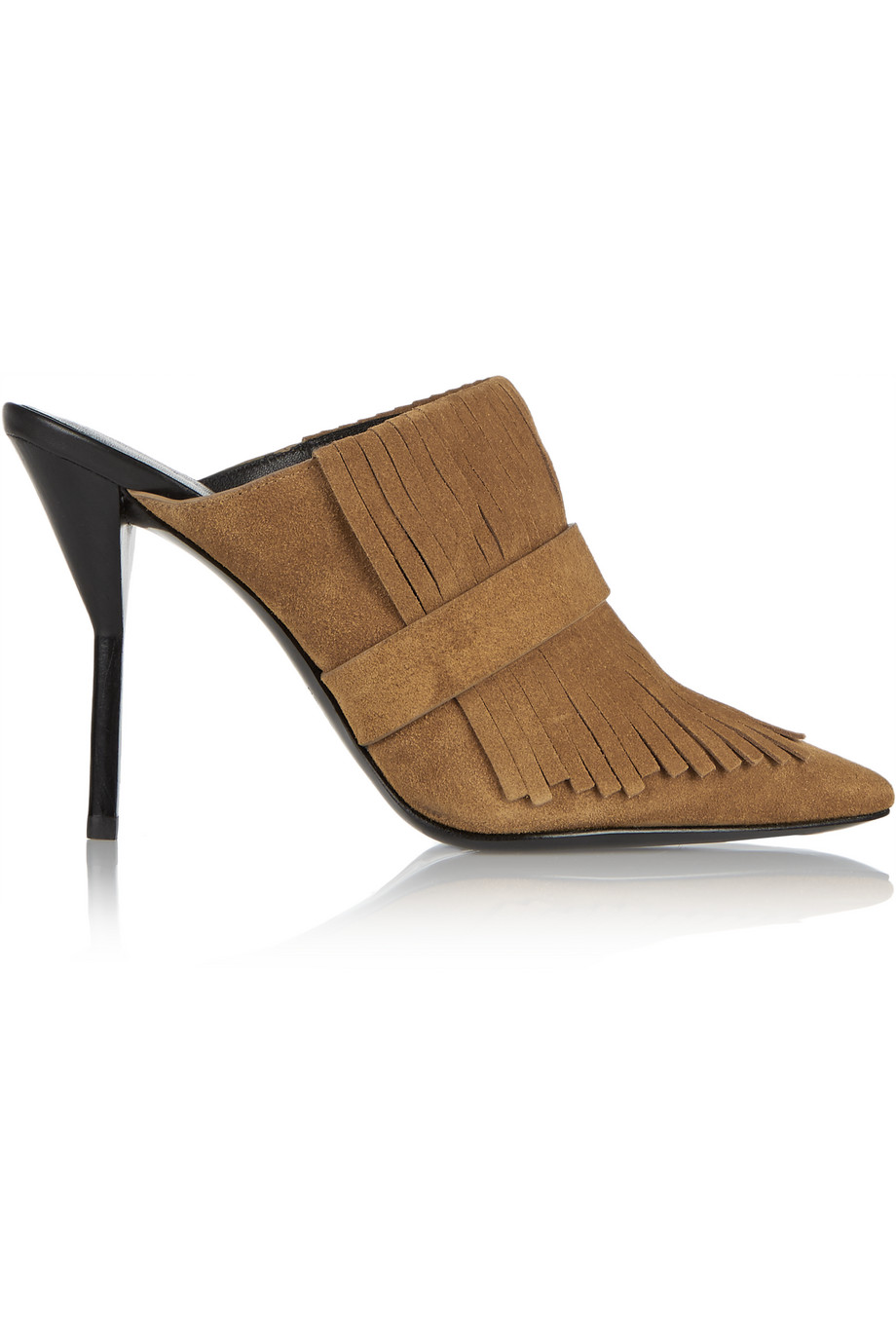 3.1 Phillip Lim Martini Fringed Suede Mules, Tan, Women's US Size: 8.5, Size: 39