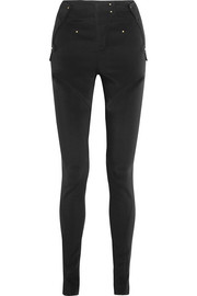 Cutout stretch-cady skinny pants
