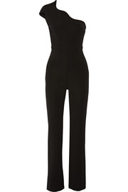 Stretch-jersey one-shoulder jumpsuit