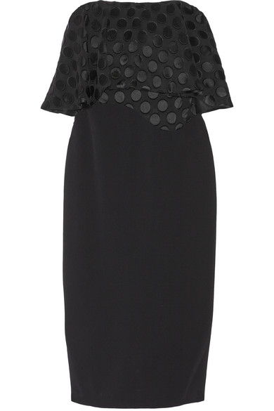 Cushnie et Ochs - Polka-dot Fil Coupé And Stretch-cady Dress - Black