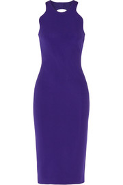 Cutout stretch-cady dress