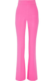 Stretch-cady flared pants