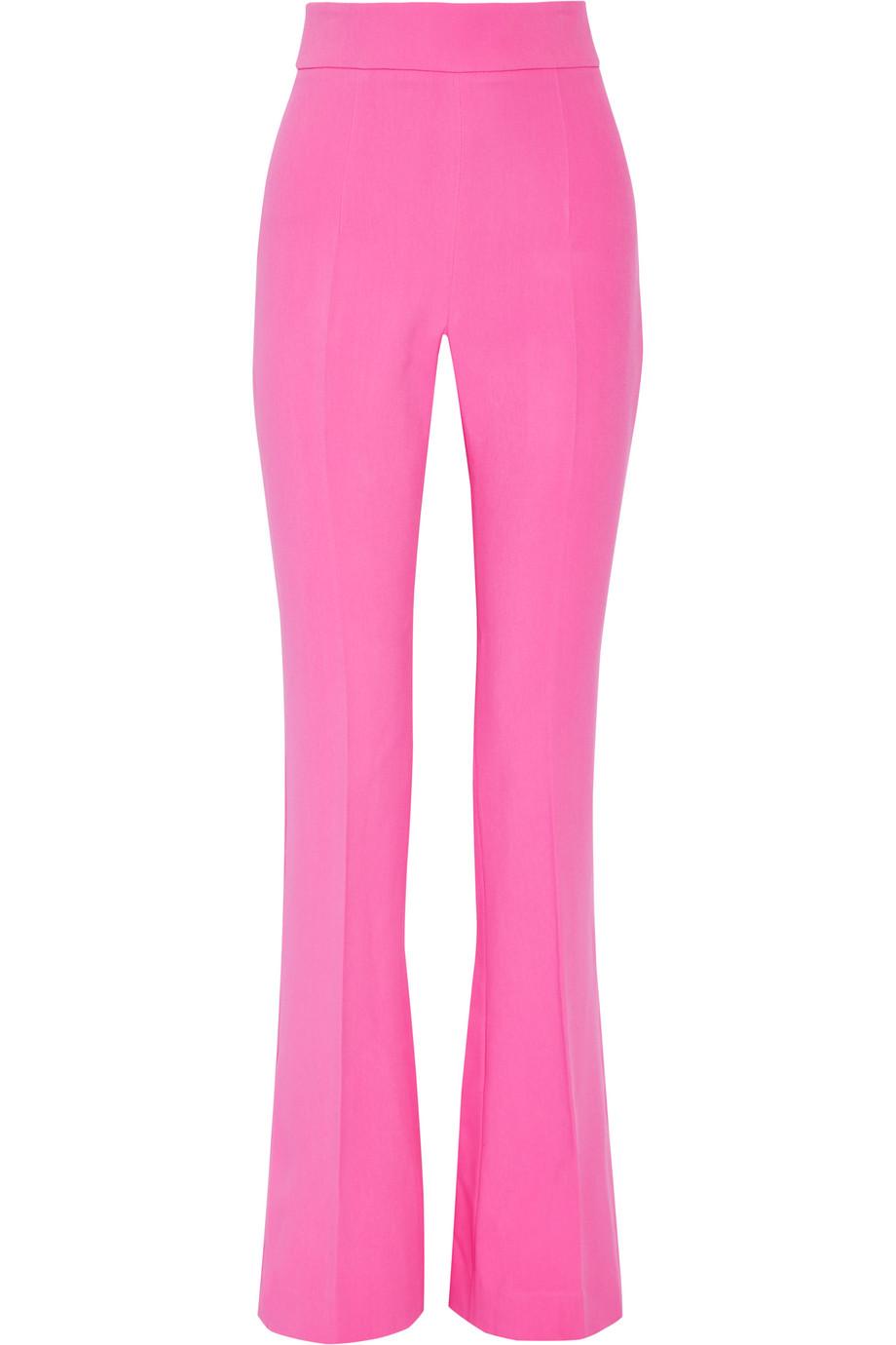 Cushnie Et Ochs Stretch-Cady Flared Pants, Pink, Women's, Size: 4