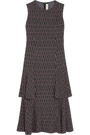 Marni Printed stretch-crepe midi dress