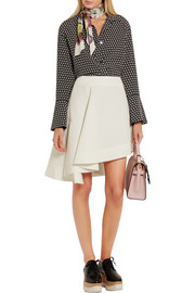 Marni Asymmetric cotton-blend mini skirt