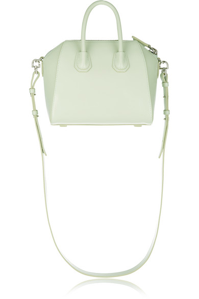 15f93df479 Givenchy. Mini Antigona shoulder bag in mint leather.  875. Play