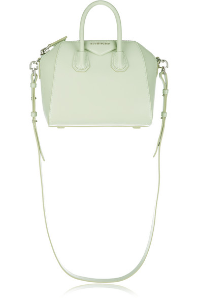 109c5463cf Givenchy | Mini Antigona shoulder bag in mint leather | NET-A-PORTER.COM