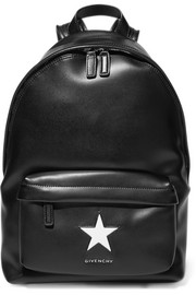 Medium backpack in black and white leather