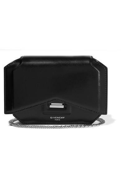 Givenchy Arc Coupé Mini-sac De La Chaîne En Imprimé Animal, Blanc, Noir