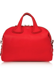 Givenchy Medium Nightingale bag in red textured-leather