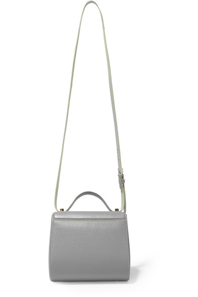 c0ea5fcb0e Givenchy. Pandora Box shoulder bag in gray and mint textured-leather.   1