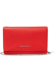 Givenchy Pandora shoulder bag in red textured-leather