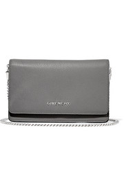 Pandora shoulder bag in gray leather