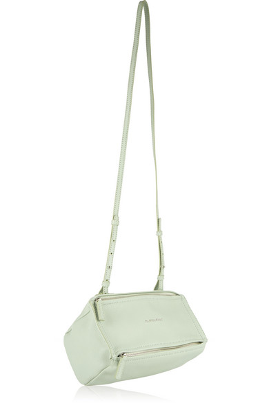 5fd06a2bf0 Givenchy. Mini Pandora shoulder bag in mint textured-leather