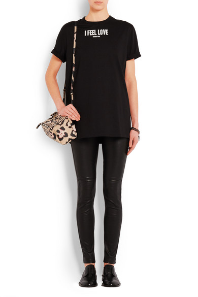 Mini Pandora shoulder bag in leopard-print textured-leather 6cc5eb5f96cb7