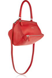 Givenchy Small Pandora shoulder bag in red textured-leather