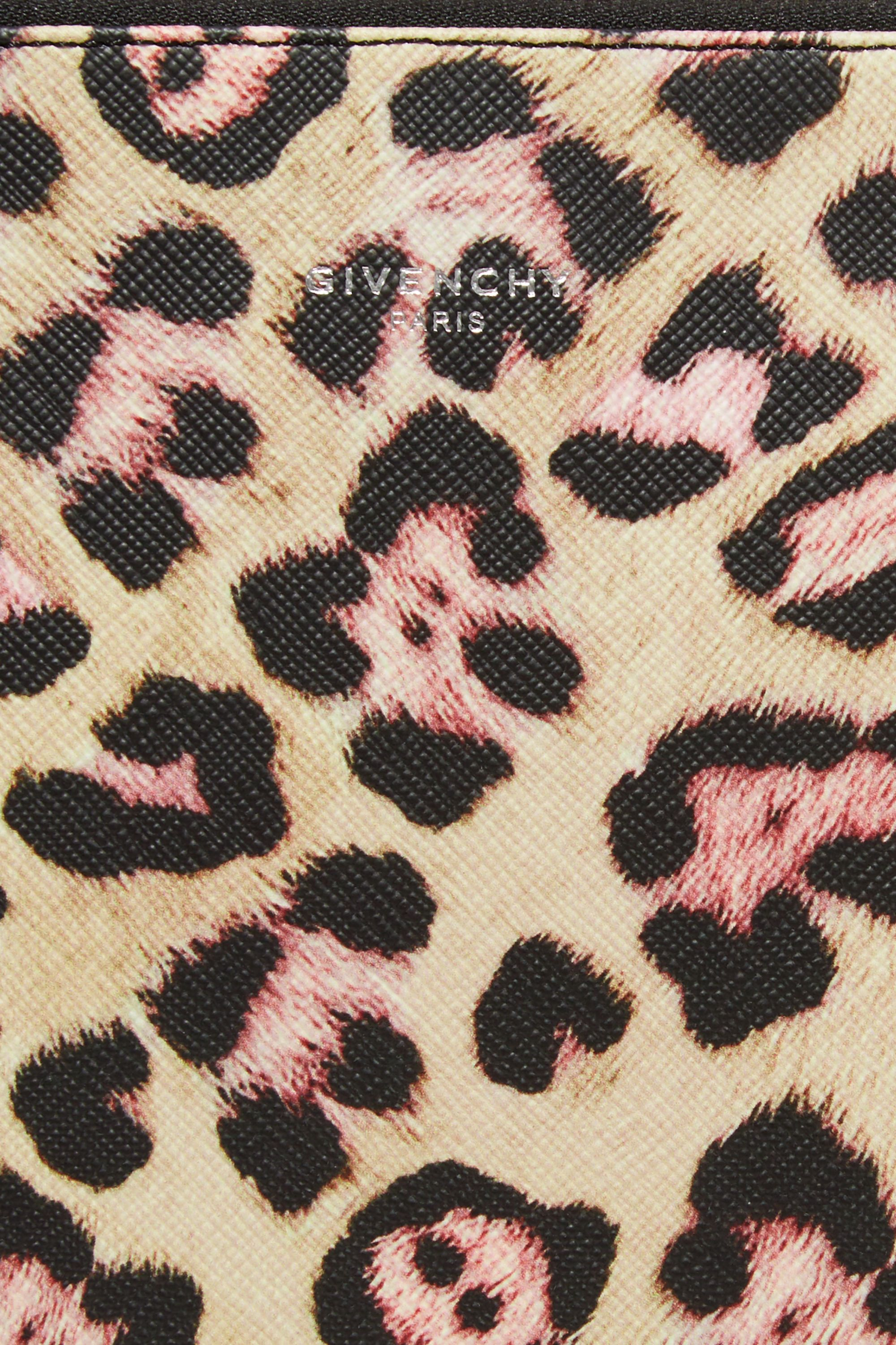 Givenchy Large pouch in leopard-print coated canvas