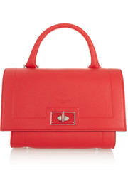 Mini Shark bag in red textured-leather